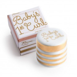 Baby's First Curl Ceramic Trinket Box By Rosanna
