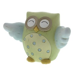 Blue Owl Resin New Baby Money Box