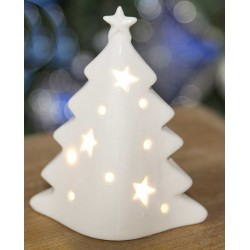 White Xmas Christmas Tree light Up Ornament
