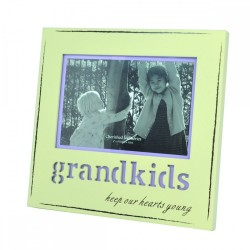 Laser Frame Engraved With Grandkids Keep Our Hearts Young
