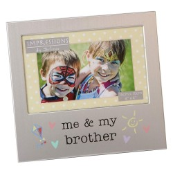 "Me & My Brother 6"" x 4"" Aluminium Frame Giftware"