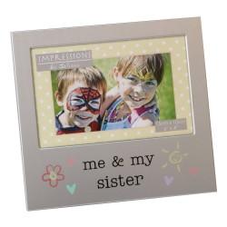 "Me & My Sister 6"" x 4"" Aluminium Frame Giftware"