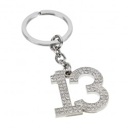 Sophia Silver Crystal 13th Birthday Milestone Keyring In Gift Box