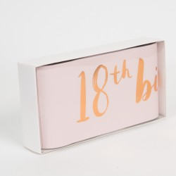 Luxury Rose Gold & Pink 18th Birthday Sash For Her