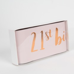Luxury Rose Gold & Pink 21st Birthday Party Sash For Her - Boxed