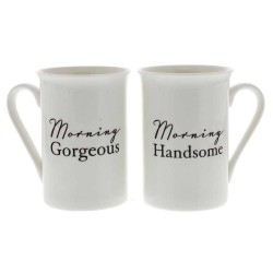 Morning Handsome Morning Gorgeous Set of 2 Mugs