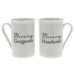 Morning Handsome Morning Gorgeous Set of 2 Mugs