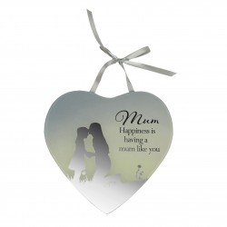 Reflections Of The Heart Mum Mirror Glass Hanging Plaque