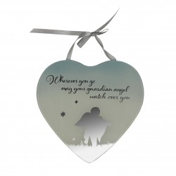 Reflections Of The Heart Guardian Angel Mirror Glass Hanging Plaque