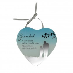 Reflections Of The Heart Grandad Mirror Glass Hanging Plaque