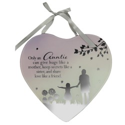 Reflections Of The Heart Auntie Mirror Glass Hanging Plaque
