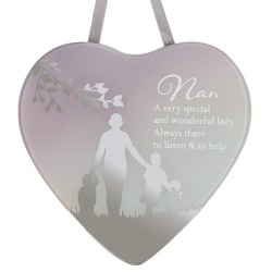 Reflections Of The Heart Nan Mirror Glass Hanging Plaque