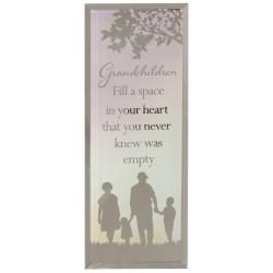 Reflections Of The Heart Grandchildren Glass Mirror Standing Plaque