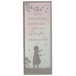 Reflections Of The Heart Daughter Glass Mirror Standing Plaque