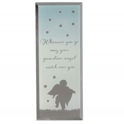 Reflections Of The Heart Guardian Angel Glass Mirror Standing Plaque