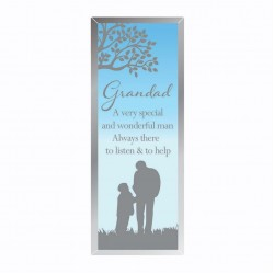 Reflections Of The Heart Grandad Glass Mirror Standing Plaque
