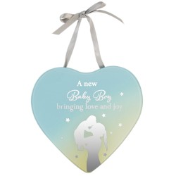 Reflections Of The Heart Baby Boy Mirror Glass Hanging Plaque