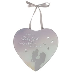 Reflections Of The Heart Baby Girl Mirror Glass Hanging Plaque