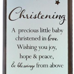 Reflections Of The Heart Christening Glass Mirror Standing Plaque