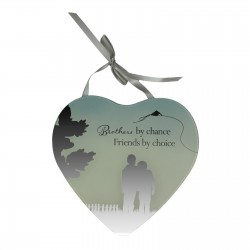 Reflections of The Heart Brother Mirror Glass Hanging Plaque