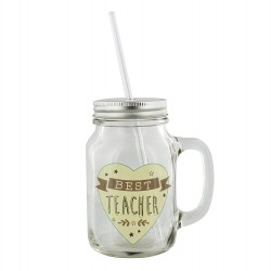 Best Teacher Mason Cocktail Jar