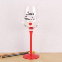 Best Teacher Wine Glass Thank You Gift