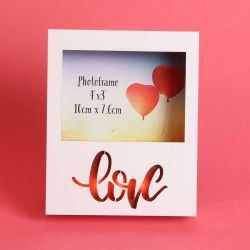 "Valentines Light Up Love Frame 4"" X 3"""