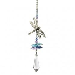 Crystal Fantasy Dragonfly Hanging Swarovski Suncatcher Pastel