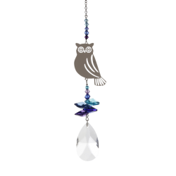 OWL Crystal Fantasy Hanging Suncatcher Embellished with a Swarovski® Crystal