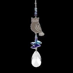 OWL Crystal Fantasy Hanging Suncatcher Embellished with a Swarovski® Crystal