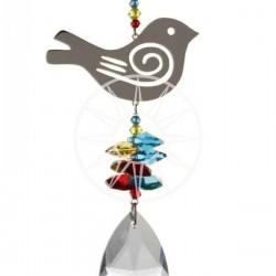 Crystal Fantasy Hanging Swarovski Suncatcher Rainbow Songbird