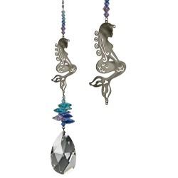 Crystal Fantasy Hanging Swarovski Suncatcher Mermaid