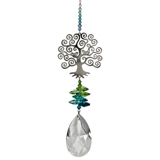 Tree Of Life Hanging Fantasy Charm Embellished with Swarovski® Crystal
