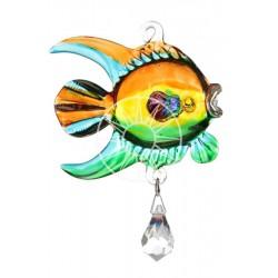 Fantasy Glass Marine Tropical Coral Fish Swarovski Crystal Suncatcher