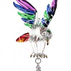 Fantasy Glass Rainbow Eagle Swarovski Crystal Suncatcher