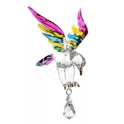 Fantasy Glass Eagle Tropical Swarovski Crystal Suncatcher