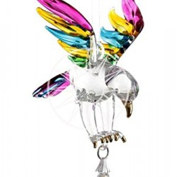 Fantasy Glass Eagle Tropical Swarovski Crystal Suncatcher