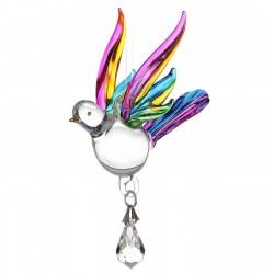 Fantasy Glass Songbird Tropical Swarovski Crystal Suncatcher