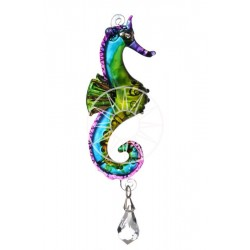 Fantasy Glass Marine Tropical Seahorse Swarovski Crystal Suncatcher
