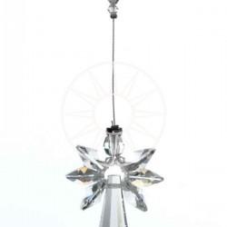 April Birthstone Aurora Borealis Crystal Large Guardian Angel Hanging Charm