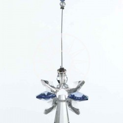 September Birthstone Sapphire Crystal Large Guardian Angel Hanging Charm