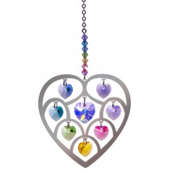 Pure Radiance Heart of Hearts - Large Confetti Chakra Suncatcher Keepsake - Embellished with Crystals from Swarovski®