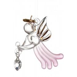 Loving Angel With Swarovski Crystal Heart October Birthstone Rose