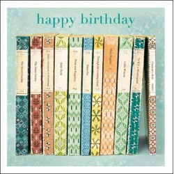 Vintage Book Spines Lovely Birthday Greeting Card - Esprit by Woodmansterne