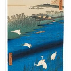 Ashmolean Sakasi Ferry Japanese Eastern Art Blank Greeting Card Woodmansterne