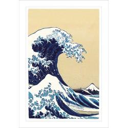 Ashmolean The Great Wave off Kanagawa  Japanese Eastern Art Blank Greeting Card Woodmansterne