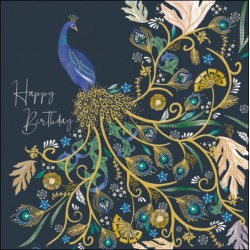 Proud Peacock Lovely Birthday Greeting Card  - National Trust Harmony by Woodmansterne