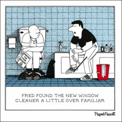 Window Cleaner - Over Familiar - Humorous Blank Card - Fred by Rupert Fawcett
