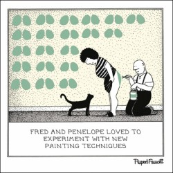 Decorating - New Painting Techniques with Bottom - Humorous Blank Card - Fred by Rupert Fawcett