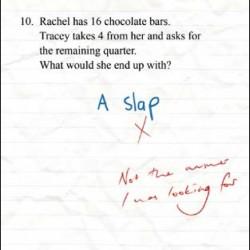 A Slap Chocolate Bars Exam Test Humorous Funny Blank/Birthday Greeting Card Genius
